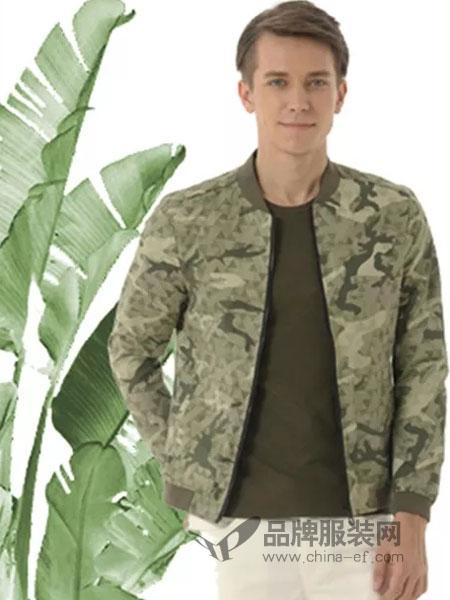 浪比时男装品牌2019春季碎花军装体闲短款男薄外套个性时尚潮流