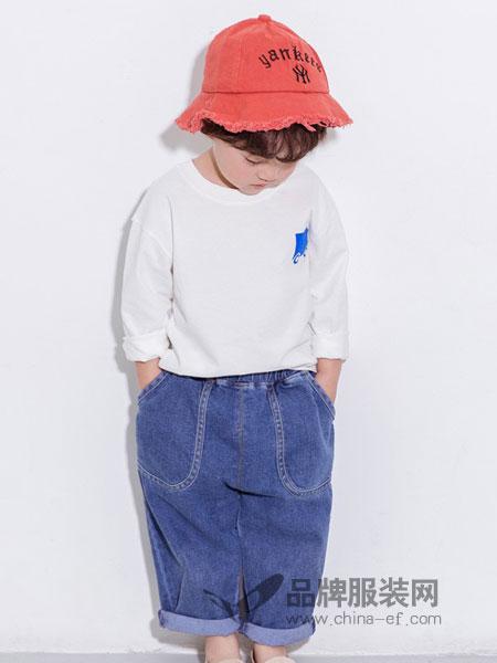 莫小汐童装品牌2019春季儿童牛仔裤休闲长裤哈伦裤