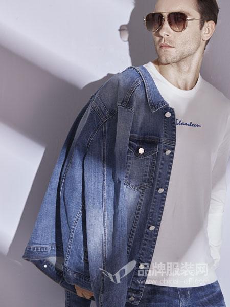 恩咖男装品牌2019春季短款牛仔外套欧美风修身百搭夹克外套上衣
