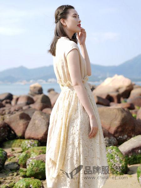 底色女装品牌2019春夏晚礼服裙修身显瘦连衣裙
