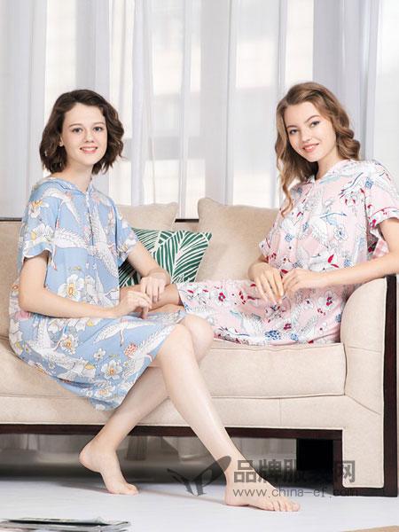 欧林雅内衣品牌2019春季纯棉长袖 甜美卡通可爱兔子 家居服套装