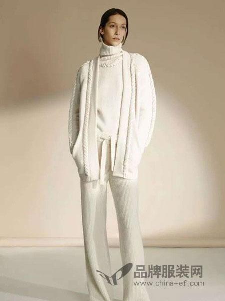 花样女装品牌2019春季个性宽松纯色口袋针织开衫中长款毛衣外套
