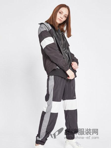 iijin艾今鞋帽/领带品牌2019春季白色板鞋运动休闲中帮高邦嘻哈街舞韩版潮流