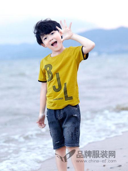 班吉鹿童装品牌2019春季纯棉新款宽松男孩韩版儿童潮童半袖童装短袖T恤