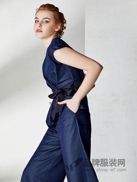 SN女装品牌2019春季修身名媛上衣阔腿裤套装长裤两件套气质