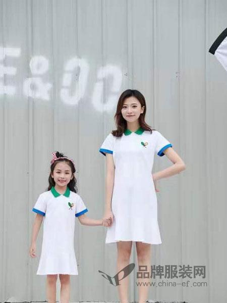 52017亲子情侣品牌2019春季短袖白色t恤潮中长款
