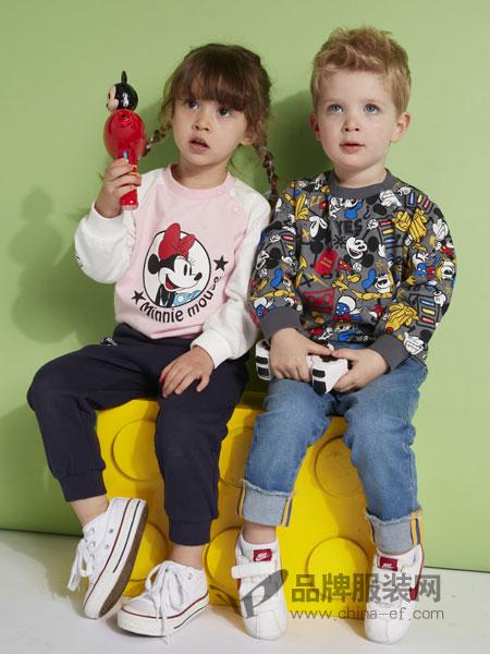 迪士尼宝宝/迪士尼童装品牌2019春季女童全棉针织卫衣长袖纯棉儿童