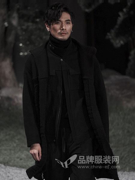 北纬三十度NORTH LATITUDE30男装品牌2019春季圆领休闲中长款外套
