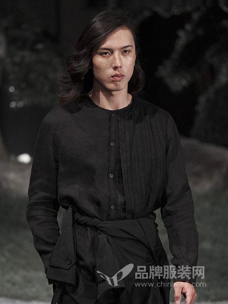 北纬三十度NORTH LATITUDE30男装品牌2019春季毛边工艺拼接九分休闲裤