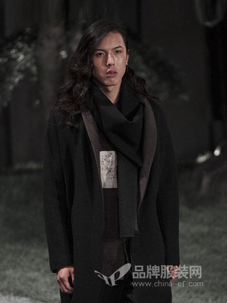 北纬三十度NORTH LATITUDE30男装品牌2019春季新款韩版百搭宽松茧型黑色大衣