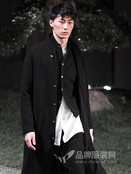 北纬三十度NORTH LATITUDE30男装品牌2019春季男士中长款亚麻外套 简易立领修身韩版风衣