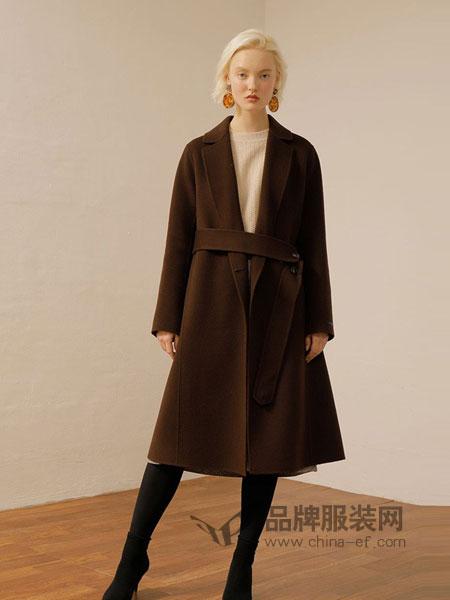 ON&ON女装品牌2018秋冬专柜新款直发毛呢大衣