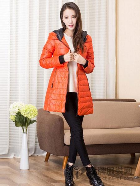 俏艺女装品牌新款韩版羽绒棉衣特大码女装胖mm中长款包臀外套200斤