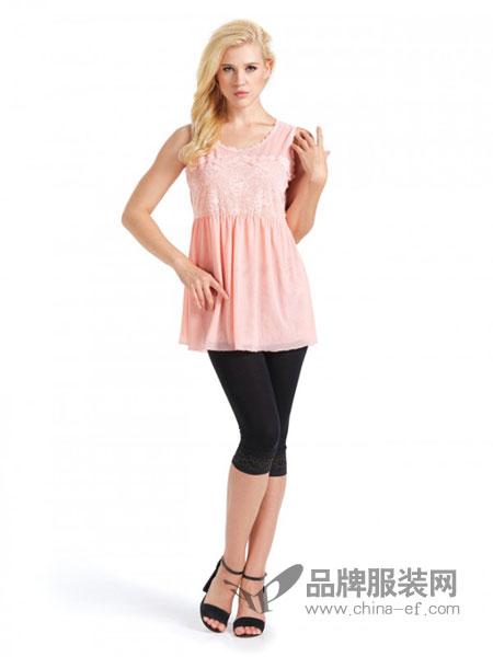 丹丽丝一族女装品牌甜美纯棉带胸垫睡裙女宽松吊带无袖睡衣