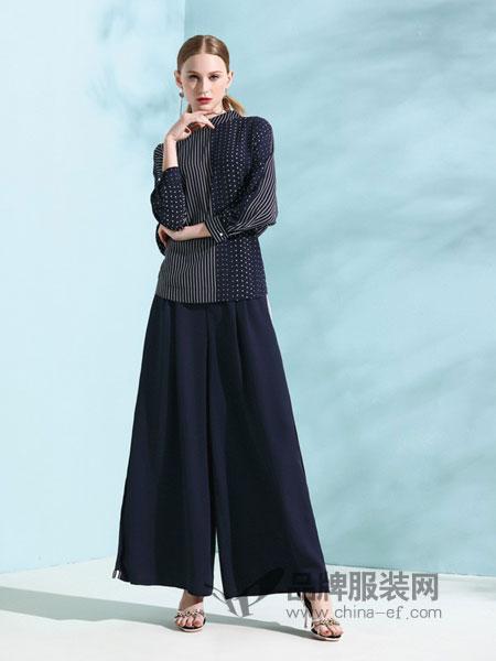 丽登雅lidengya女装品牌彩38平台2019春季新品重磅真丝显瘦显高裤子