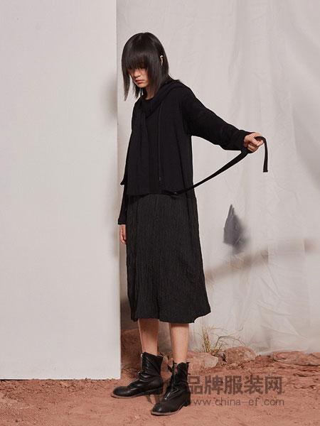 源本女装品牌2018秋冬时尚修身针织连衣裙两件套高领气质保暖套裙