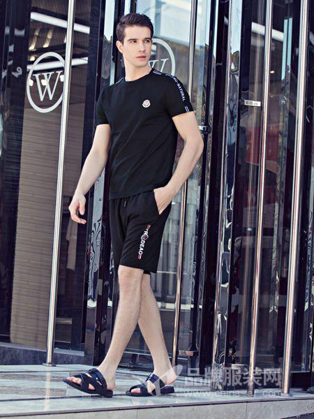 法拉狄奥男装品牌2019春季新款时尚潮流短袖短裤男士运动服