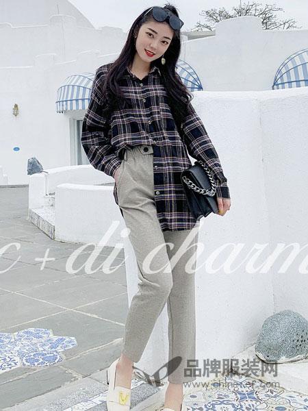 cc+di charme女装品牌2019春季韩版宽松显瘦复古百搭衬衣潮