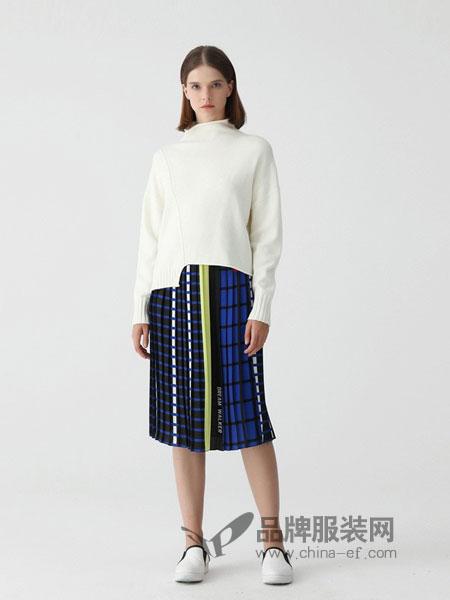 Masfer.SU女装品牌2018秋冬新款套头宽松开叉针织衫羊绒衫百搭