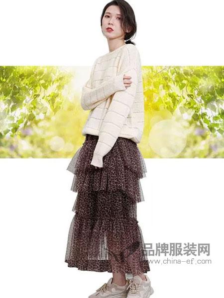 齐�K女装品牌2019春夏豹纹诱惑纱纱蛋糕裙 半身裙休闲百搭款 时尚仙儿气