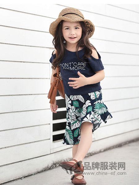 幼幼&娜娜童装品牌2019春季新款针织衫短袖T恤衫上衣