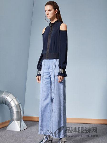 丽芮女装品牌2019春季新品休闲夹克皱褶长袖拉链高腰短外套