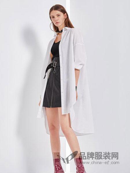 丽芮女装品牌2019春季时尚百搭长款雪纺防晒衣开衫