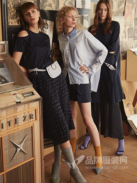 衣全球女装品牌2019春夏新款波点半身裙忠长款高腰雪纺包臀裙女韩版显瘦