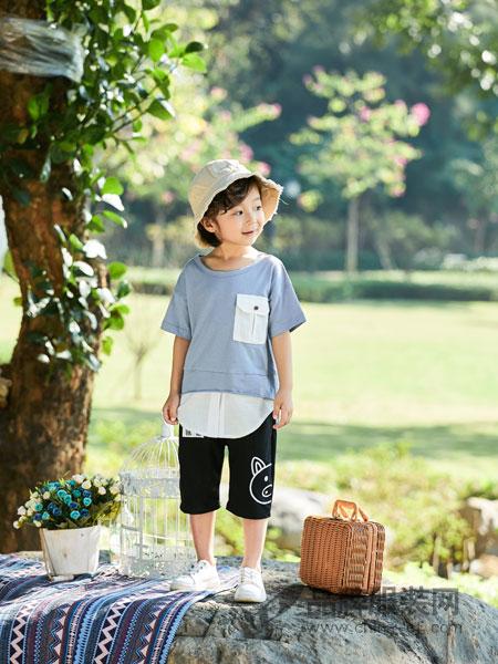 小猪宾果童装品牌2019春季休闲T恤衫 圆领上衣