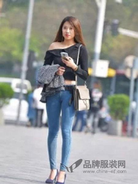 牛仔衣、牛仔裤女装品牌2019春夏新款韩版紧身显瘦小脚九分裤女