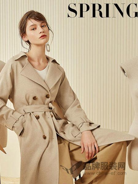 第一乐章  女装品牌2019春季新款宽松中长款风衣