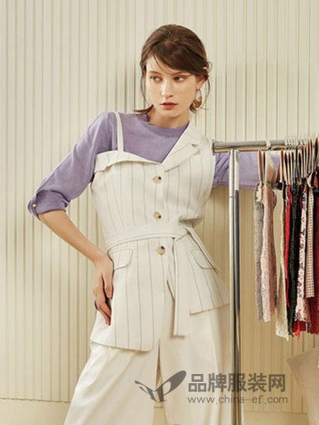 第一乐章  女装品牌2019春季时尚休闲职业套装小清新心机套装