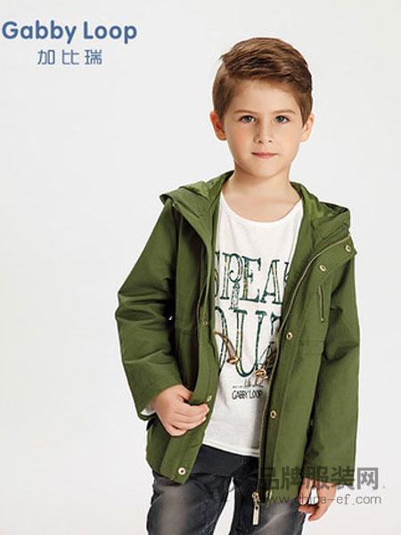 加比瑞童装品牌2019春季新款 男童外套中大童带帽拉链短款风衣外套