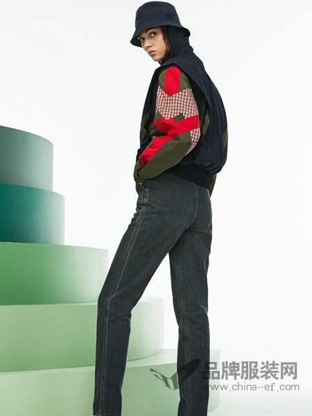 法国鳄鱼休闲品牌2018秋冬新款弹力复古显瘦牛仔九分裤学生高腰长裤