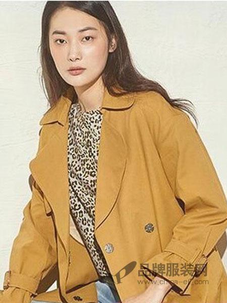费依女装品牌2019春季新款风衣女中长款喇叭袖宽松外套薄款