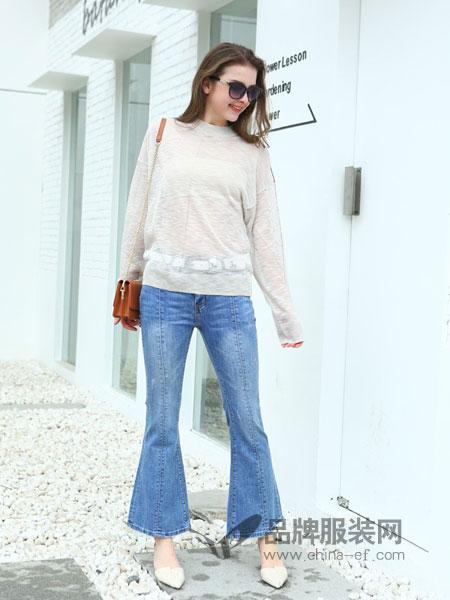 jjcc佳简衬橱女装品牌2019春季新款韩版弹力修身显瘦牛仔裤