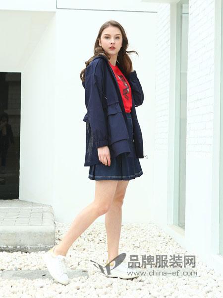 jjcc佳简衬橱女装品牌2019春季中长款外套翻领长袖宽松开衫