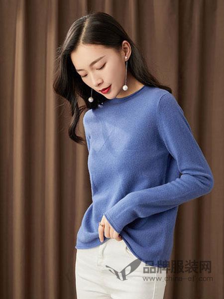 GGx女装品牌2018秋冬新款毛衣女低圆领套头韩版纯色纯羊毛保暖长袖针织打底衫