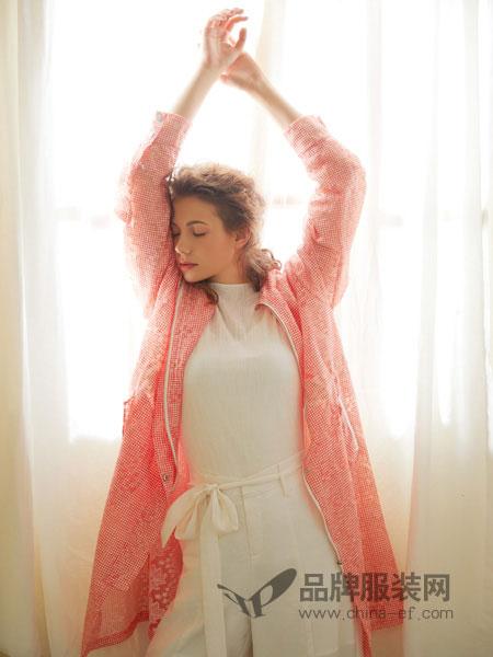 丽迪莎女装品牌2019春夏甜美蕾丝拼接透视外套防晒服