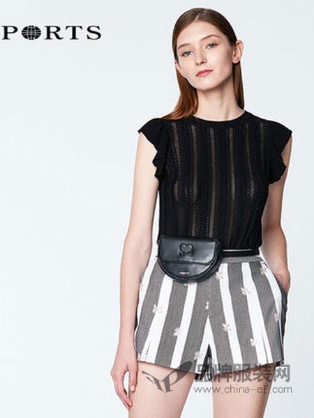 宝姿1961女装品牌2019春季新款简约针织无袖套头衫