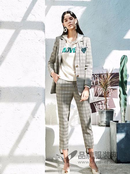 雀啡女装品牌2019春夏西装领中长款长袖外套大气风衣