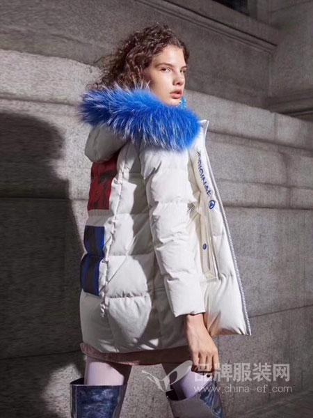 绩点女装品牌2019新款韩版修身显瘦羽绒服中长款外套女