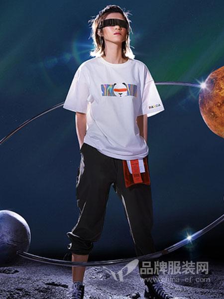 Pandas friend休闲品牌2019春夏新款韩版宽松百搭原宿bf风短袖T恤上衣