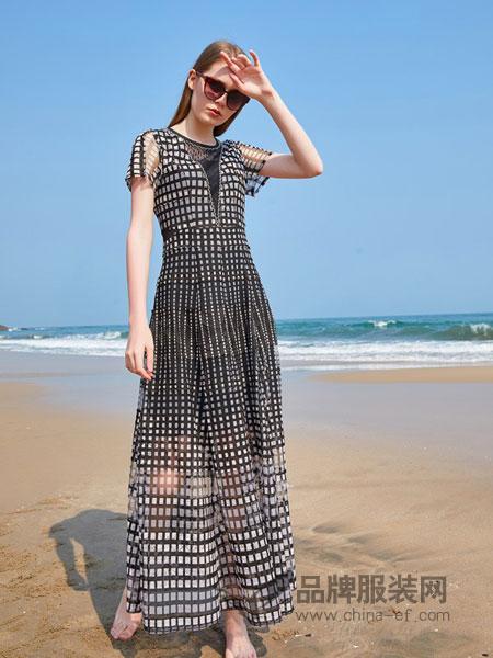 金蝶茜妮女装品牌2019春夏韩版宽松小香风洋气质女神两件套