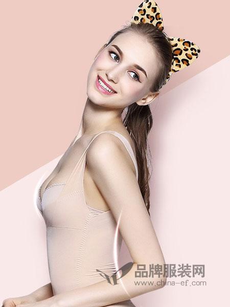 婧麒女装品牌2019春夏调整型聚拢上托文胸内裤套装