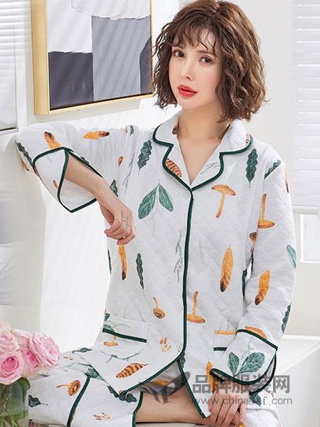 婧麒女装品牌2019春夏喂奶夹层空气棉产妇哺乳