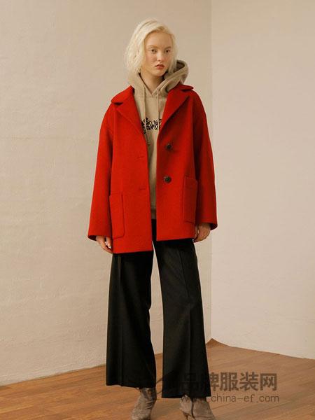 ON&ON女装品牌宽松短款羊毛外套