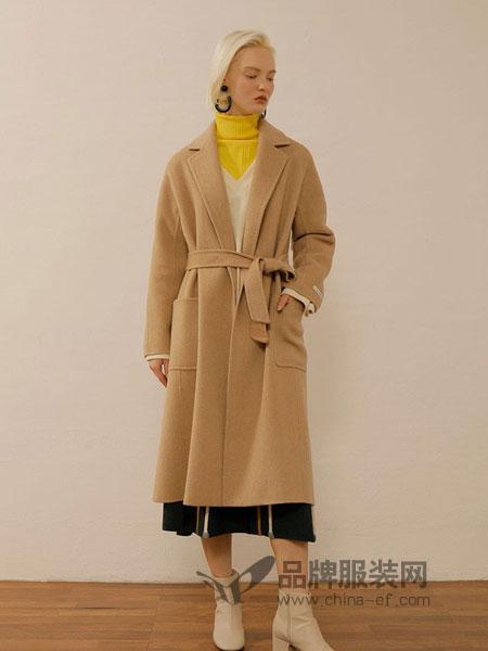 ON&ON女装品牌手工羊毛通勤大衣特