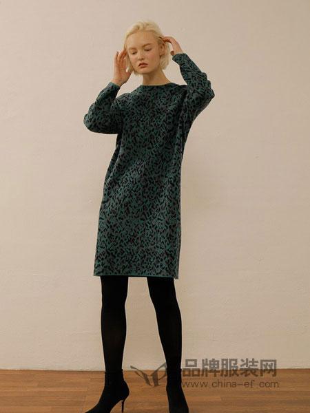 ON&ON女装品牌时尚气质显瘦豹纹连衣裙