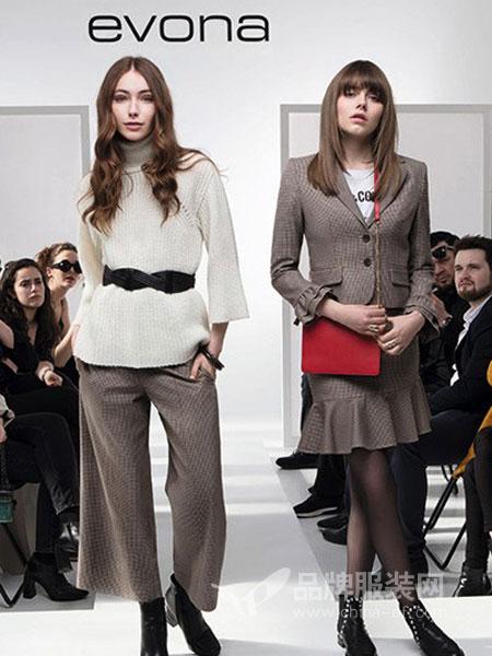 EVONA女装品牌灰色西装外套 上衣